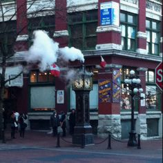 Vancouver, coolest clock ever, runs on steam....love that section of Vancouver