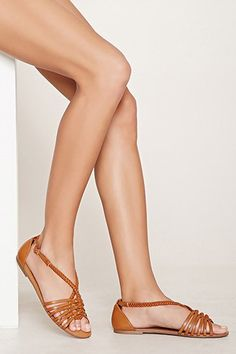 Wide-Fit Faux Leather Sandals