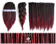 Hey, I found this really awesome Etsy listing at https://www.etsy.com/listing/227425413/wool-dreadlocks-long-dark-brown-maroon
