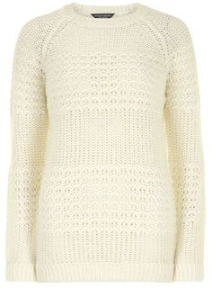 Tall ivory scoop jumper