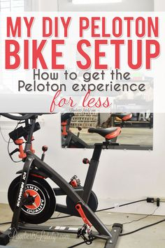 This post shows how to use a Schwinn IC4 Spin Bike to get a DIY Peloton workout. Includes supplies needed, how to get cadence and resistance measurements, and what apps are needed. Peloton Bike, Spin Bikes, Bicycle, How To Get, Workout, Diy, Bike, Bicycle Kick, Bricolage