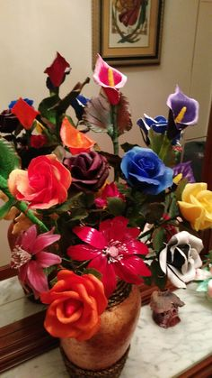 centro de flores murticolor