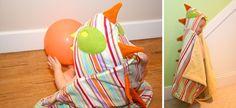 DIY Monster Towel by feelincrafty: Cute overload! #DIY Kids #Towel #Monster_Towel #feelincrafty