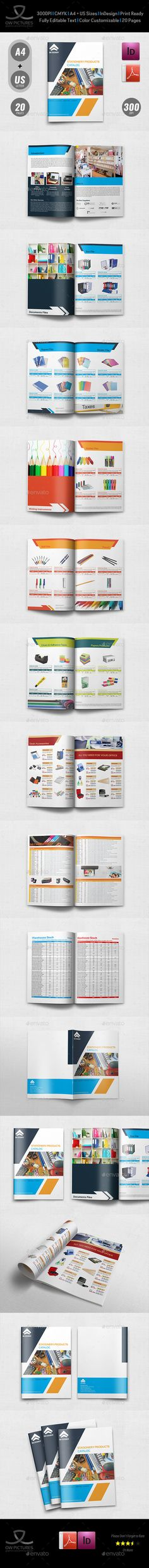 Stationery Products Catalog Brochure Template Vol.2 - 20 Pages - Catalogs Brochures Download here : https://graphicriver.net/item/stationery-products-catalog-brochure-template-vol2-20-pages/19427893?s_rank=143&ref=Al-fatih