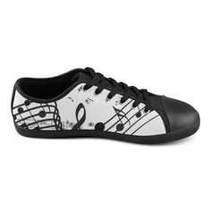 Music Canvas Shoes for Women  Model016 (Large Size)