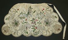 Apron, silk, metal,