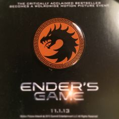 Who hasn't got one of these? You need to get your's ASAP . #endersgame - asabopp