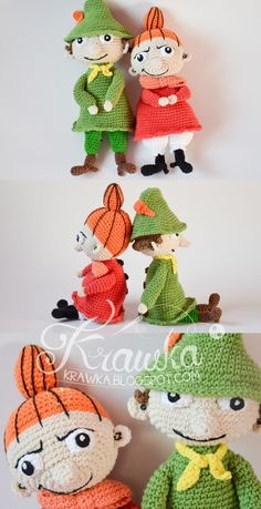 Original and creative Crochet projects with free patterns. Crochet Doll Pattern, Crochet Dolls, Crochet Patterns, Free Crochet, Knit Crochet, Crochet Hats, Little My Moomin, Baby Barn, Knitted Shawls