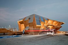 Endesa solar pavilion - designed by the institute for advance architecture of catalonia (IAAC) as part of the 2012 smart city expo in barcelona. #architecture ☮k☮