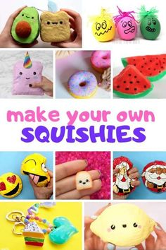 How to make Homemade Squishies that are Slow Rising. Learn how to make a Squshie with paper, with foam, without foam, above all Easy Squishie DIY! crafts How to make Homemade Squishies that are Slow Rising - Red Ted Art Fun Crafts For Teens, Easy Crafts For Kids, Easy Diy Crafts, Cute Crafts, Diy For Kids, Teen Girl Crafts, Homemade Crafts, Creative Crafts, Foam Crafts