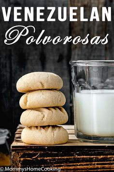 These classic Venezuelan Polvorosas Cookies are always a big hit. They practically melt in your mouth. Easy to make, easier to eat. They're absolutely the BEST! @mommyhomecookin #recipe #polvorosas #cookies #venezuelan #easy #dessert #eggfree #eggless Venezuelan Food, Venezuelan Recipes, Good Food, Yummy Food, Delicious Recipes, Eggless Recipes, Molasses Cookies, Cookie Desserts, Yummy Cookies