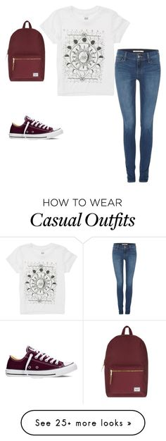 """Casual outfits"" by luna-cisneros on Polyvore featuring Levi's, Converse, Billabong and Herschel Supply Co."