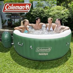 Coleman SaluSpa 6 Person Inflatable Outdoor Spa Jacuzzi Bubble Massage Hot Tub Image 4 of 5 Outdoor Spa, Indoor Outdoor, Outdoor Stuff, Outdoor Rooms, Outdoor Ideas, Outdoor Living, Jacuzzi Hot Tub, Bathtub, Best Inflatable Hot Tub