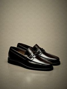 Brushed calfskin #loafers with #horsebit and half rubber soles. #fw13 #men #accessories