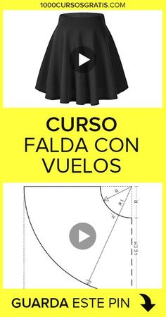 COSTURA In this free course we will explain how to make a skirt with flights. We will wait for you! Girls Dresses Sewing, Sewing Clothes, Diy Clothes, Back Neck Designs, Blouse Neck Designs, Baby Dress Patterns, Sewing Patterns, Sewing Hacks, Sewing Tutorials