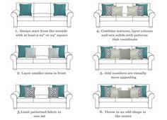 scatter cushions arrangement on armchair