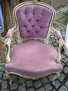 lovely lavender velvet chair