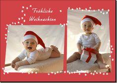 Viele Familien verschicken sobald sie Kinder haben Weihnachtskarten mit Fotos ihrer Kleinen. Das ist persönlicher als eine gekaufte Weihnachtskarte und die nah
