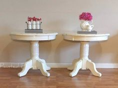 Check out this item in my Etsy shop https://www.etsy.com/listing/521823031/end-tablesnight-stands Follow us on Facebook www.facebook.com/paintedpiecesshop/ Night stand makeover. Antique white Java Gel distressed shabby chic