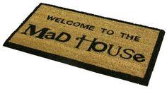Outdoor Mat Novelty Coir Mad House Entrance Door Garden Floor Home Carpet Rug