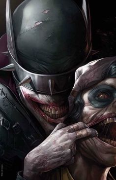Batman and Joker Batman The Dark Knight, Batman Dark, Evil Batman, Batman Arkham, Der Joker, Joker Art, Dark Knights Metal, Wallpaper Animé, Batman Kunst