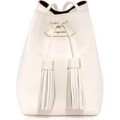 Gigi Hadid wearing Tom Ford Leather Small Tassel Bucket Bag