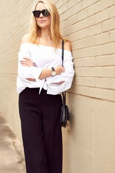 fashion-jackson-white-off-the-shoulder-top-black-culottes-black-celine-sunglasses
