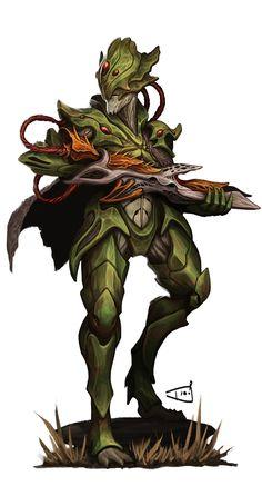 Erathi Soldier - Pathinder/Starfinder RPG (Aethera Campaign Setting Art) - Dio Mahesa