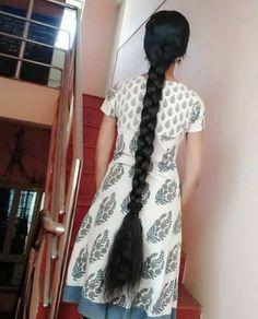 Long Hair Indian Girls, Indian Long Hair Braid, Indian Hairstyles, Braided Hairstyles, Long Silky Hair, Braids For Long Hair, Beautiful Long Hair, Indian Beauty Saree, Bobby