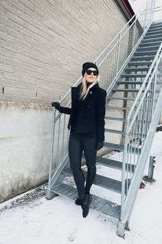 coat / Sandro knit / Kjær København  pants / Topshop beanie / H&M  shoes / Nike | Linda Juhola