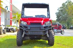 New 2017 Polaris RANGER 500 Solar Red ATVs For Sale in Florida. 2017 Polaris RANGER 500 Solar Red, 2017 Polaris® RANGER® 500 Solar Red Features may include: 58 Inch Width and Excellent Utility Value Smooth and Reliable 32 HP ProStar® EFI Engine Features Best In Class Torque Plush Suspension Travel and Refined Cab Comfort for 2 Creates an Excellent Ride POWER FEATURES CLASS-LEADING TOWING AND PAYLOAD With full 1,500 lbs. towing and standard 2 receiver, the RANGER 500 allows you to tackle…