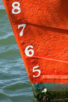 numbered boat