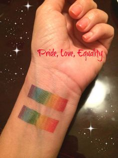Show your pride with our signature rainbow equality bars temporary tattoo. #pride #gay #LGBT #temporarytattoo