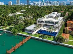 Miami Beach's newest ultra-luxurious mega-mansion with splendid water views of Biscayne Bay!: a luxury home for sale in Miami Beach, Miami-Dade County , Florida - Property Florida Mansion, Beach Mansion, Villas, Miami Houses, Mega Mansions, Luxury Homes Dream Houses, Dream Homes, Modern Mansion, Modern Exterior