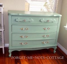 CUSTOM PAINTED Vintage Shabby Chic French Provincial 3 Drawer Dresser