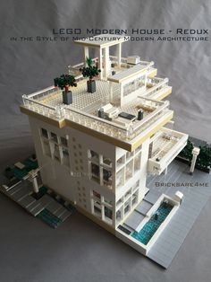 """LEGO Modern House - Redux - in the Style of Mid-Century Modern Architecture by Bricksare4me - as seen at BrickCan 2016 in Vancouver BC - awarded """"Best Edifice"""""""