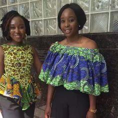 Check out our QUANSIMA Tops  #africanprint #africanprints #ghanagirls #cutetops…