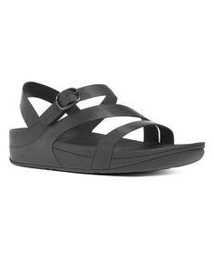 007fbb149adcc2 Black The Skinny Z-Cross Leather Sandal - Women