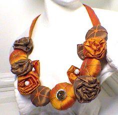 necklace silk,collier soie