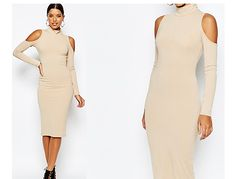 DIY//Nastygals Inspired Cut Out Shoulder Bodycon Dress (Easy Sewing)