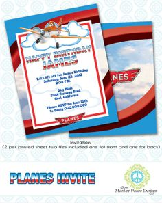 Disney Planes Dusty Crophopper birthday by MasterPeaceDesigns, $10.00
