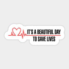 "Grey's Anatomy - ""It's a beautiful day to save lives!"" Grey's Anatomy - It's a beautiful day to save lives! Greys Anatomy Logo, Greys Anatomy Memes, Grey Anatomy Quotes, Tumblr Stickers, Phone Stickers, Red Bubble Stickers, Cute Stickers, Grey's Anatomy Merchandise, Wallpaper Telephone"
