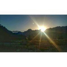 #sun #sunrise #mountain #view
