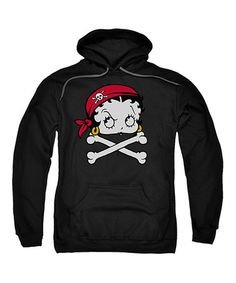 Pirate Betty Boop!!!!  This Charcoal Betty Boop Pirate Hoodie - Adult is perfect! #zulilyfinds