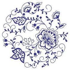 Blue Onion Circle(Md) machine embroidery designs