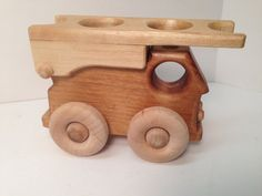 Wood Fire Engine Fire Truck Toy Hook & Ladder by GrampsWoodToys
