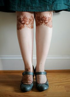 Lace Knees by Carmel Clavin, via Flickr  Intriguing placement. Reminds me of stockings.