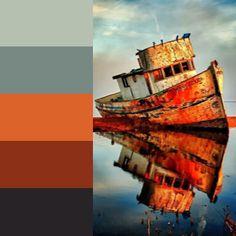 Created using Color Inspiration Tool For iOS  #B6C0B1 - #Ash gray  #788984 - #Dolphin Gray  #DC6329 - #Vivid red-tangelo  #8C3018 - #Kobe  #272326 - #Raisin black  #palette #colors #scheme #cnd