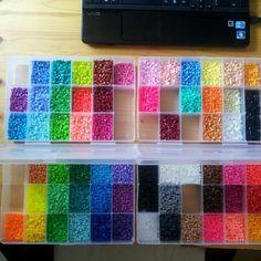 Perler bead storage by reroots