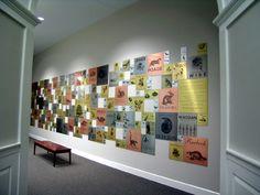 Mayborn Museum Donor Wall by Tracie Fleming, via Behance  www.chemetal.com
